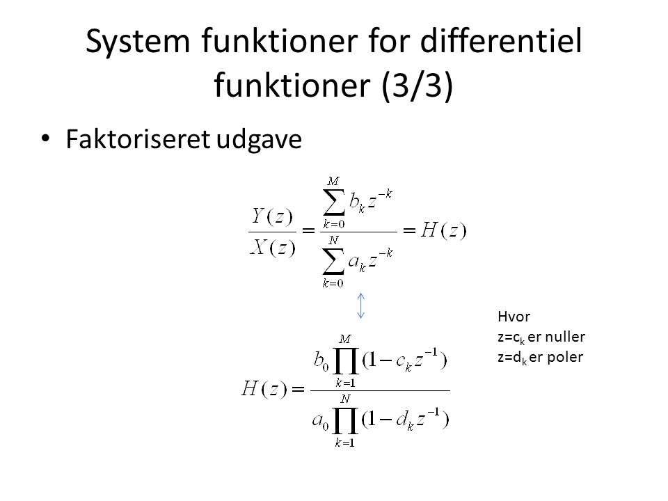 System funktioner for differentiel funktioner (3/3)