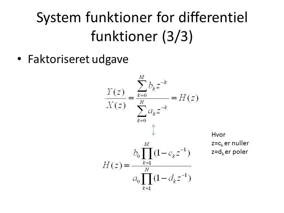 System funktioner for differentiel funktioner (3/3)