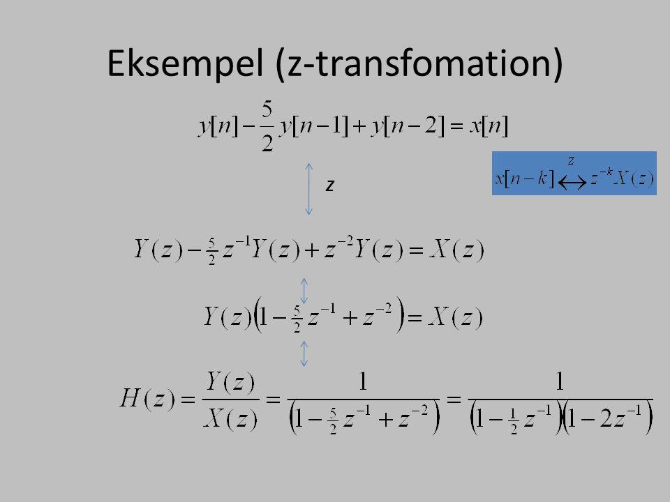 Eksempel (z-transfomation)