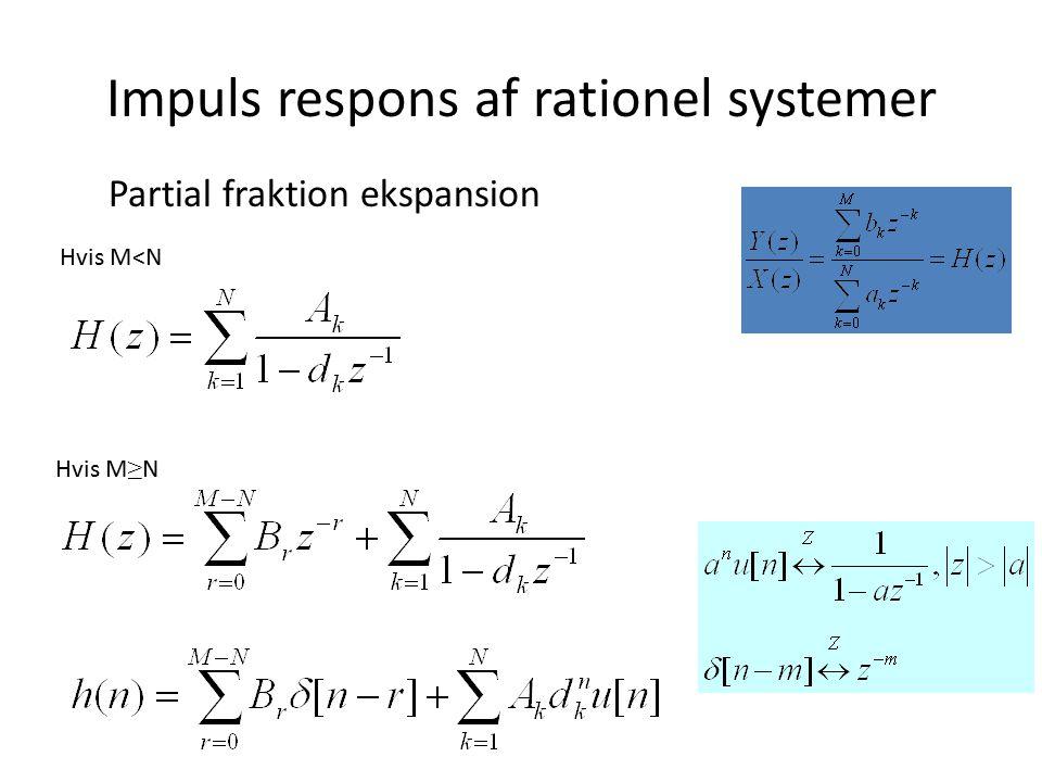 Impuls respons af rationel systemer