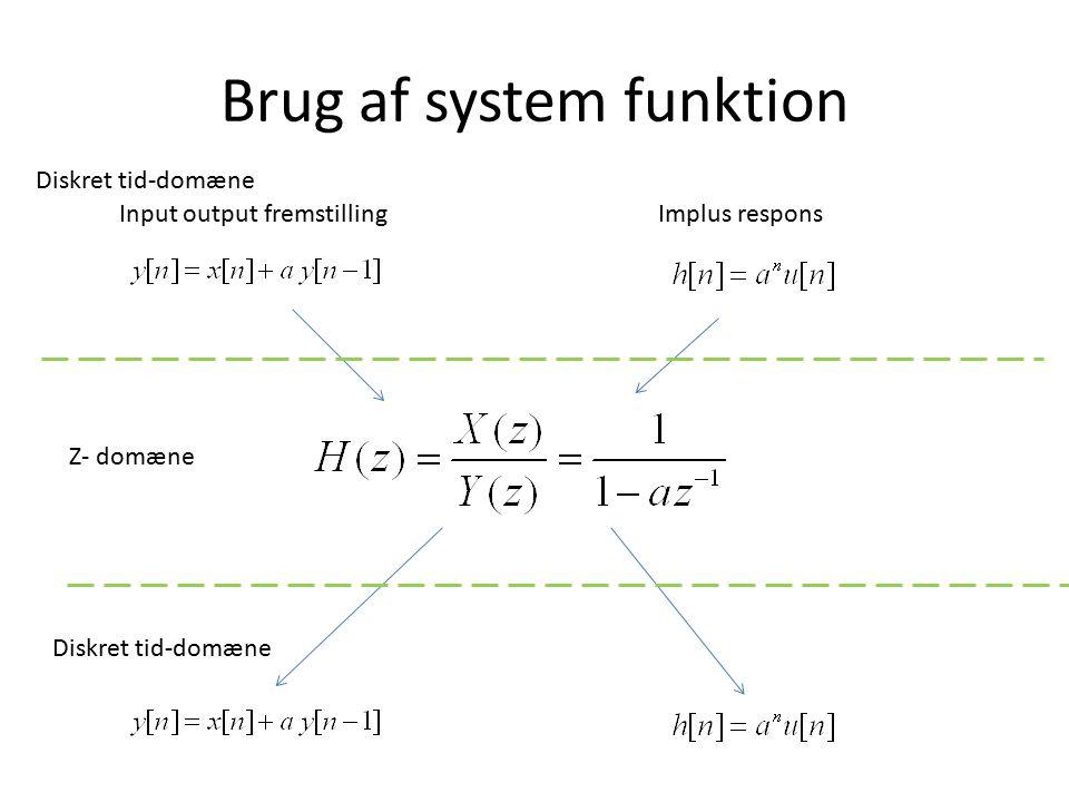 Brug af system funktion