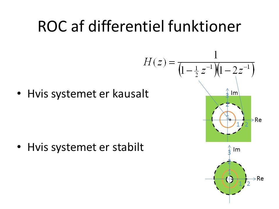 ROC af differentiel funktioner