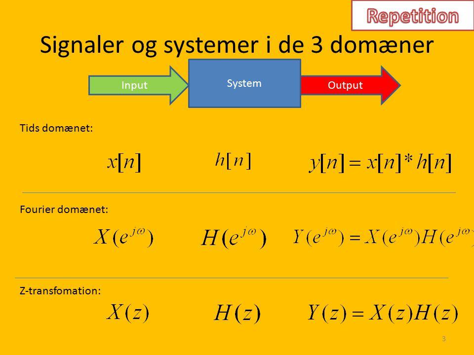 Signaler og systemer i de 3 domæner