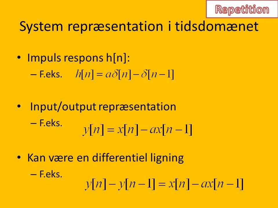 System repræsentation i tidsdomænet