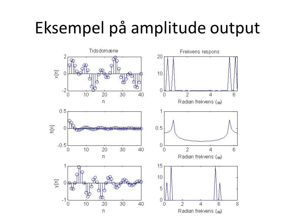 Eksempel på amplitude output