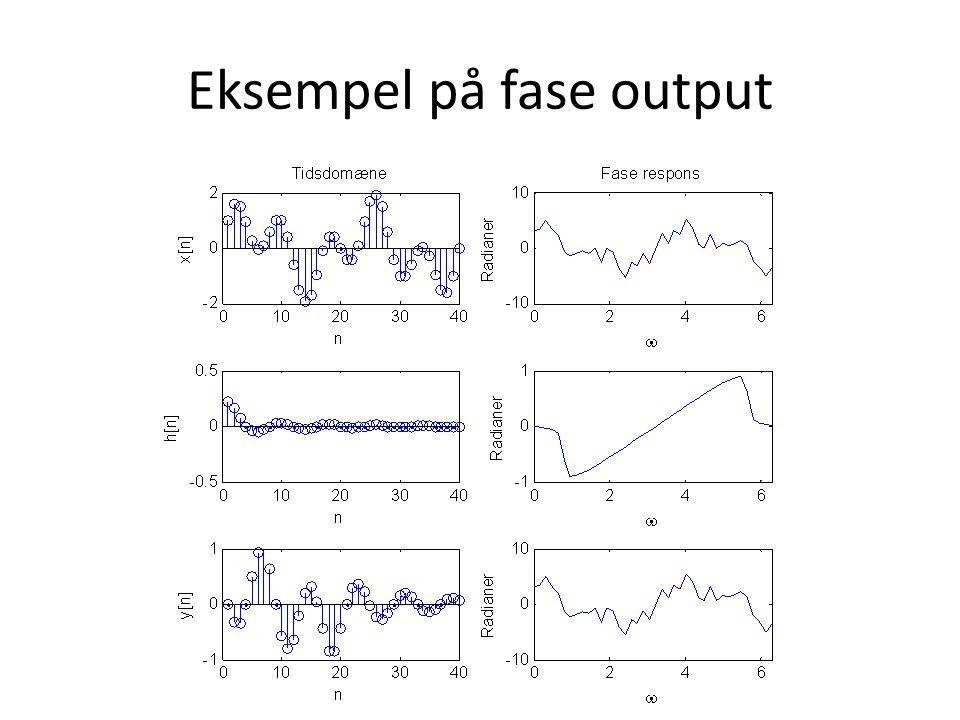 Eksempel på fase output