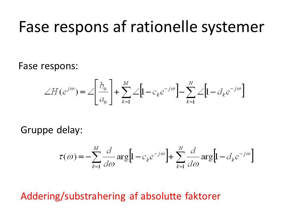 Fase respons af rationelle systemer