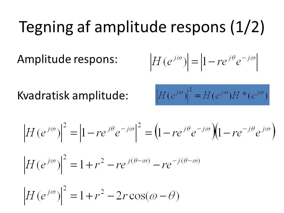 Tegning af amplitude respons (1/2)