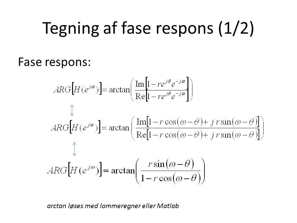 Tegning af fase respons (1/2)