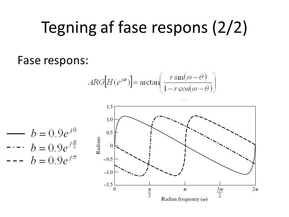 Tegning af fase respons (2/2)
