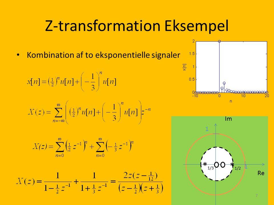 Z-transformation Eksempel