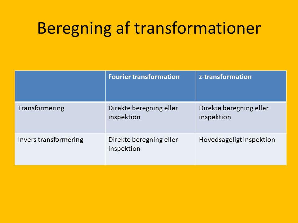 Beregning af transformationer