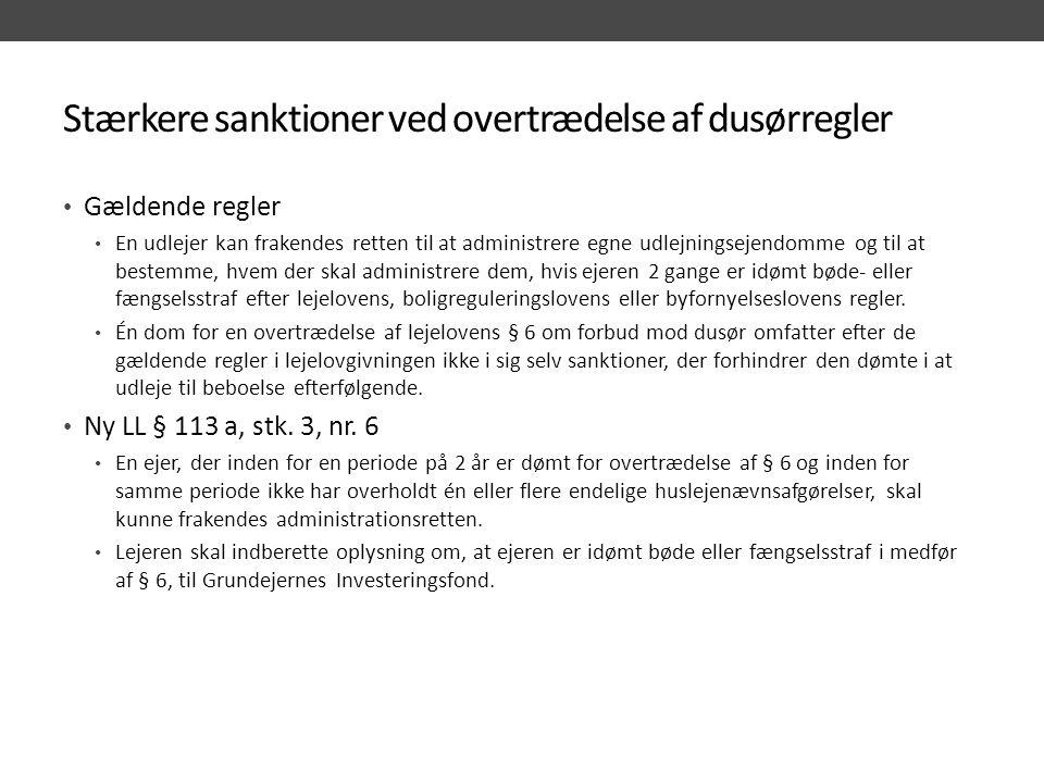 Stærkere sanktioner ved overtrædelse af dusørregler