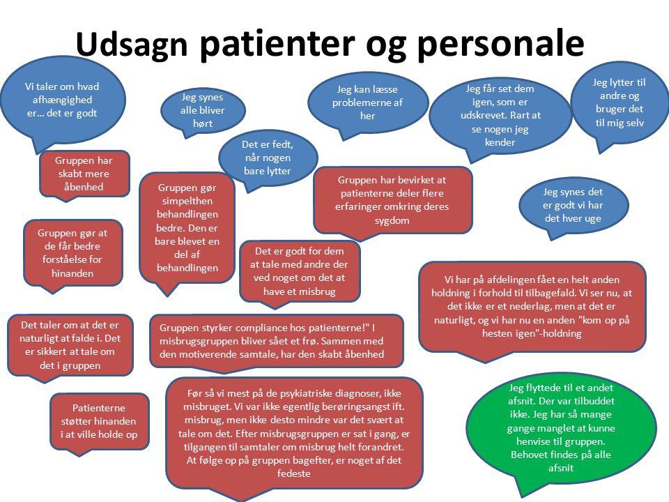 Udsagn patienter og personale