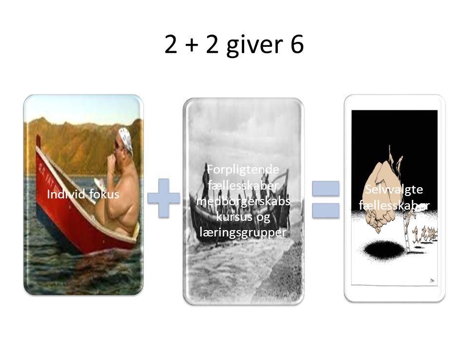 2 + 2 giver 6 Individ fokus. Forpligtende fællesskaber medborgerskabs kursus og læringsgrupper.