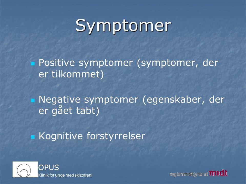 Symptomer Positive symptomer (symptomer, der er tilkommet)