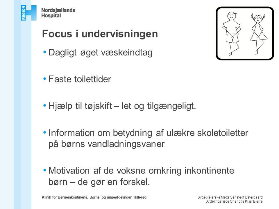 Focus i undervisningen