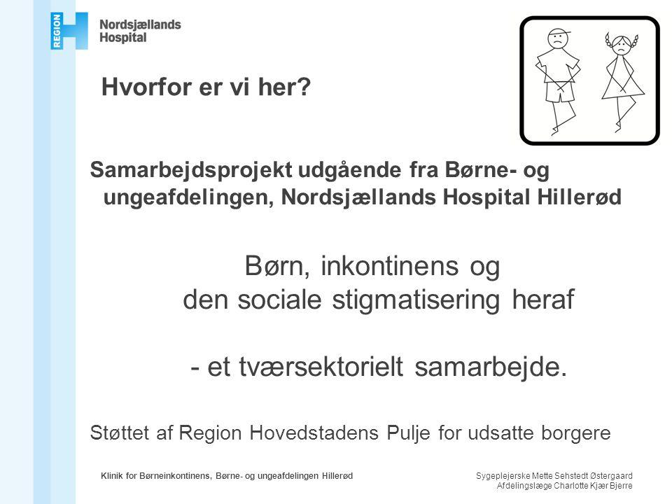 Hvorfor er vi her Samarbejdsprojekt udgående fra Børne- og ungeafdelingen, Nordsjællands Hospital Hillerød.