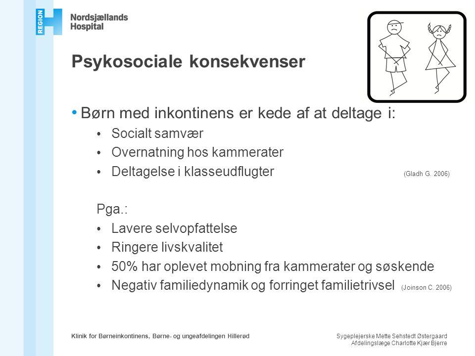 Psykosociale konsekvenser
