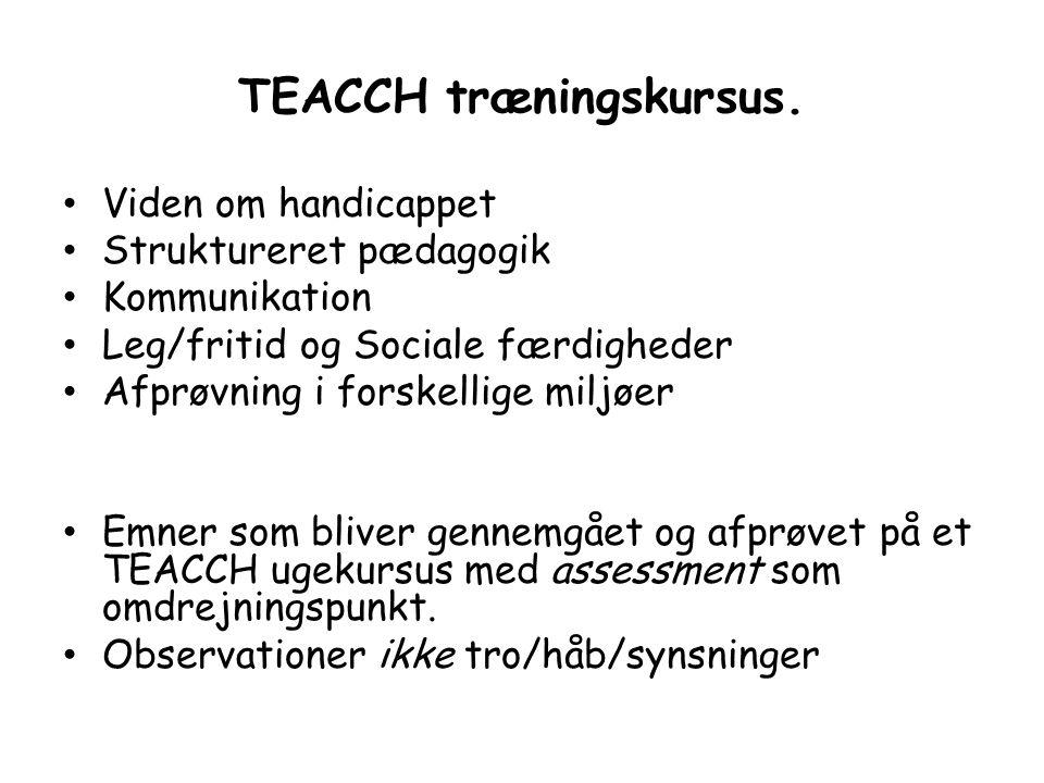 TEACCH træningskursus.