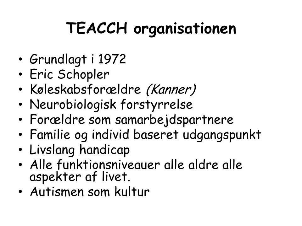 TEACCH organisationen