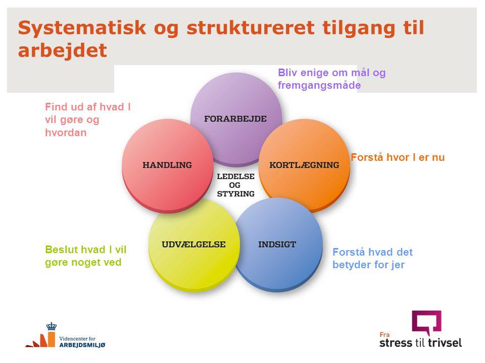 Systematisk og struktureret tilgang til arbejdet
