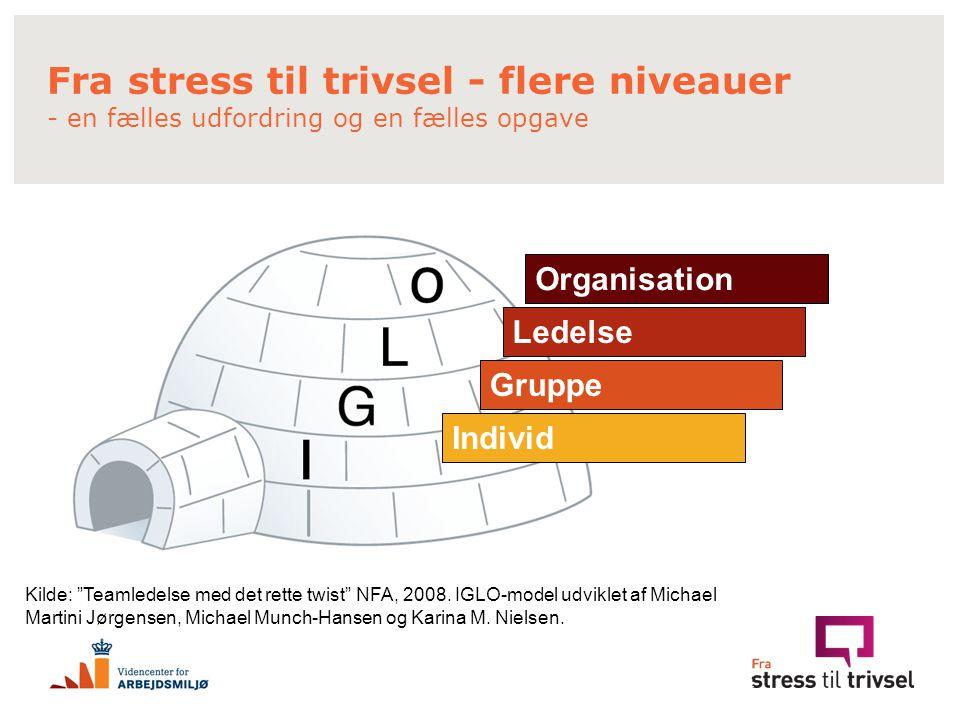 Fra stress til trivsel - flere niveauer - en fælles udfordring og en fælles opgave