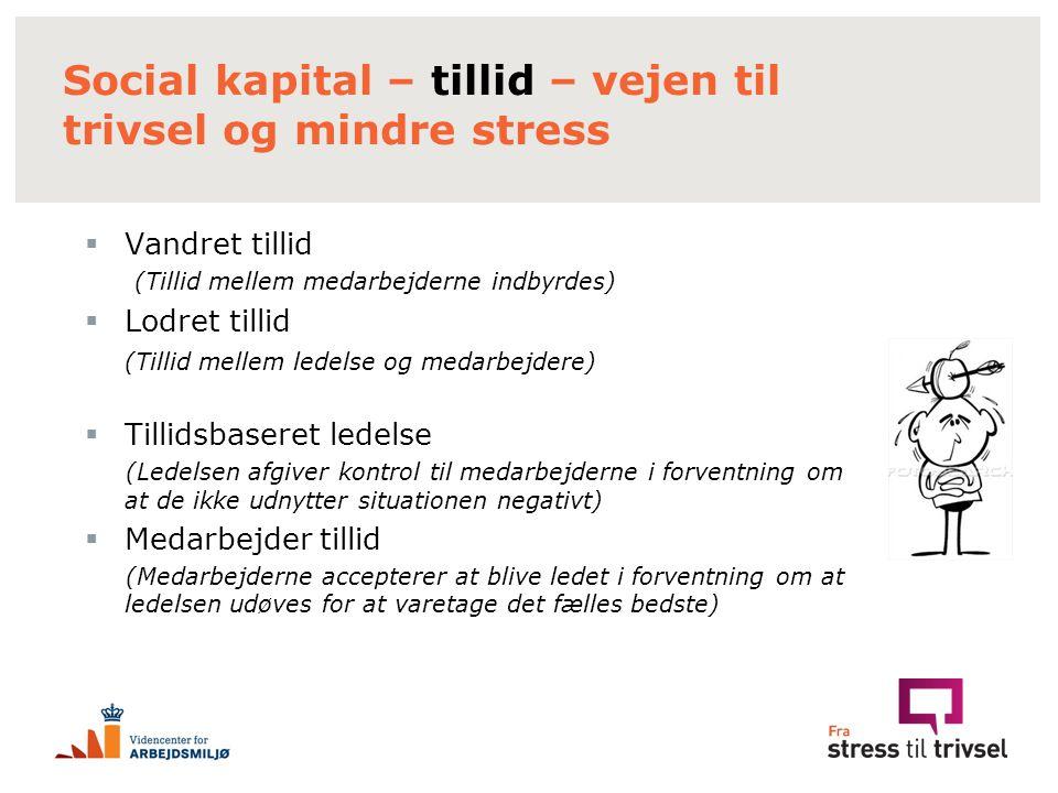 Social kapital – tillid – vejen til trivsel og mindre stress