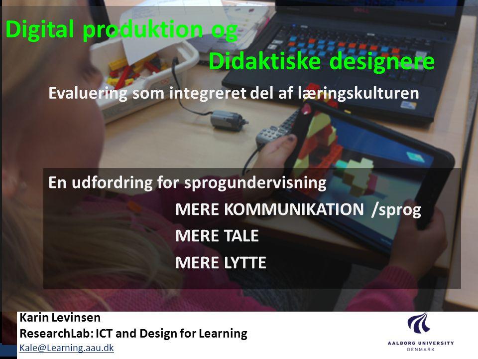 Digital produktion og Didaktiske designere