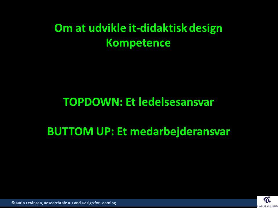 Om at udvikle it-didaktisk design Kompetence