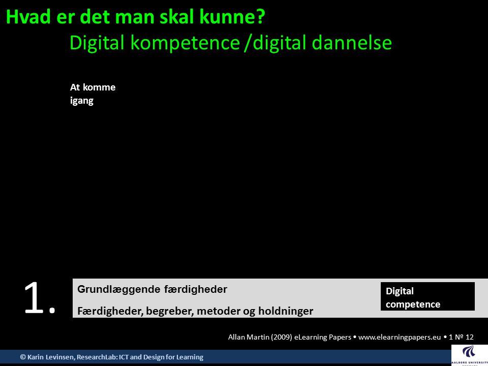 1. Hvad er det man skal kunne Digital kompetence /digital dannelse