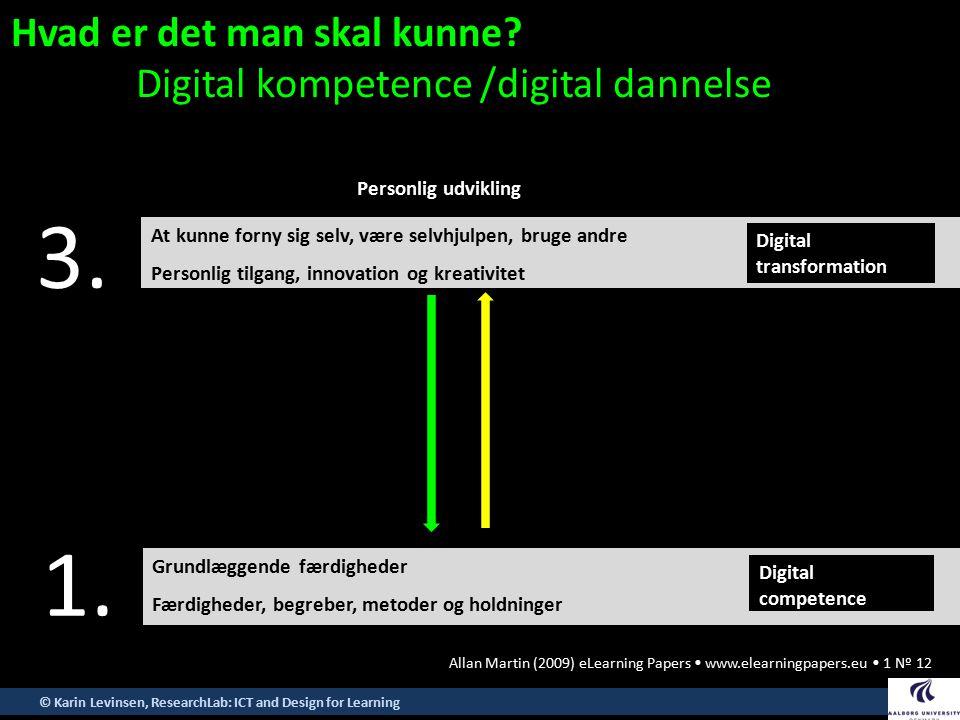 3. 1. Hvad er det man skal kunne Digital kompetence /digital dannelse