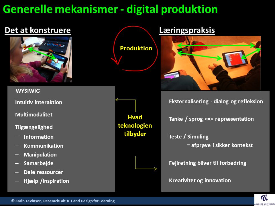 Generelle mekanismer - digital produktion