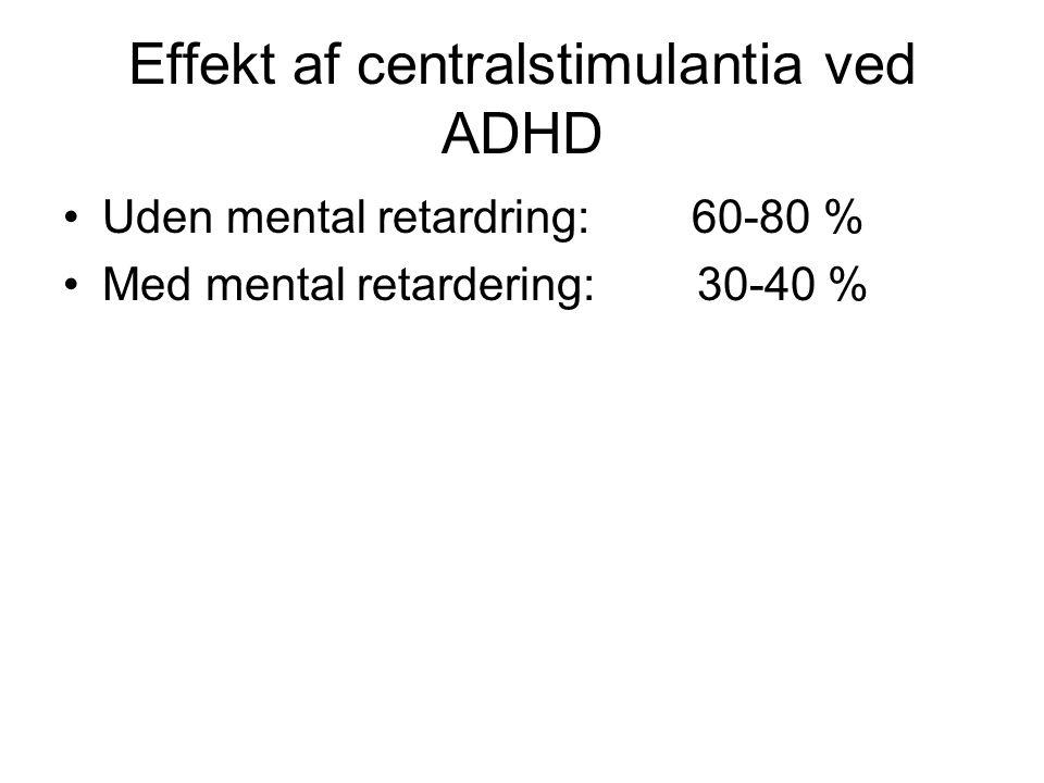 Effekt af centralstimulantia ved ADHD