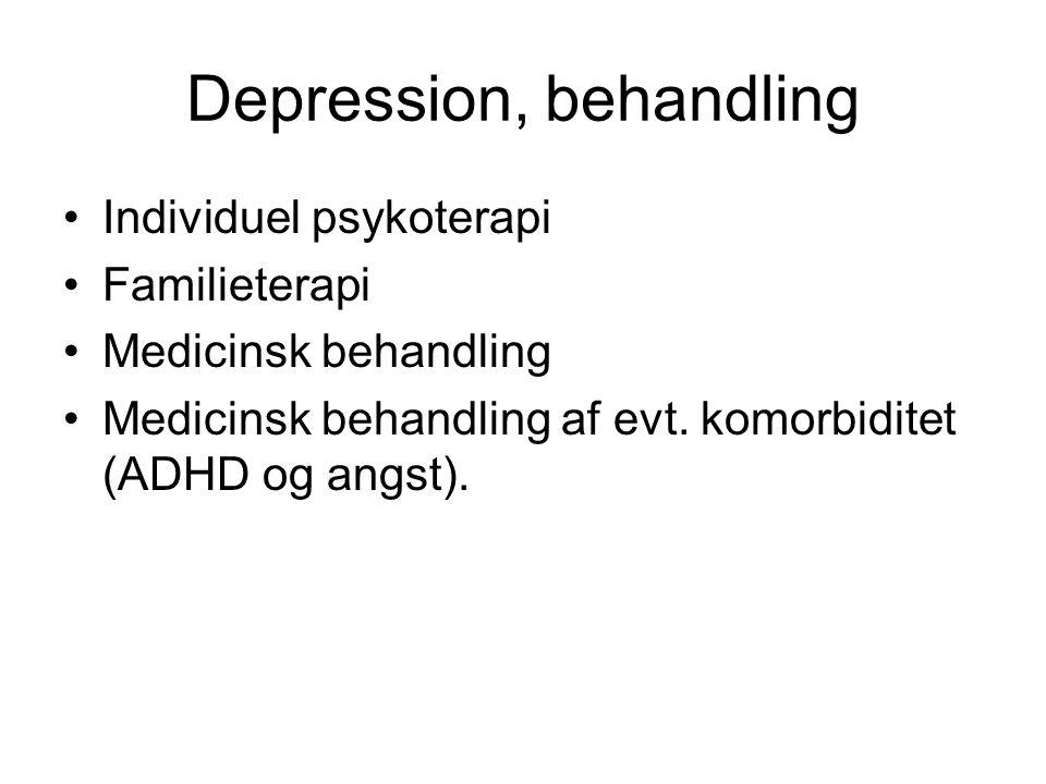 Depression, behandling