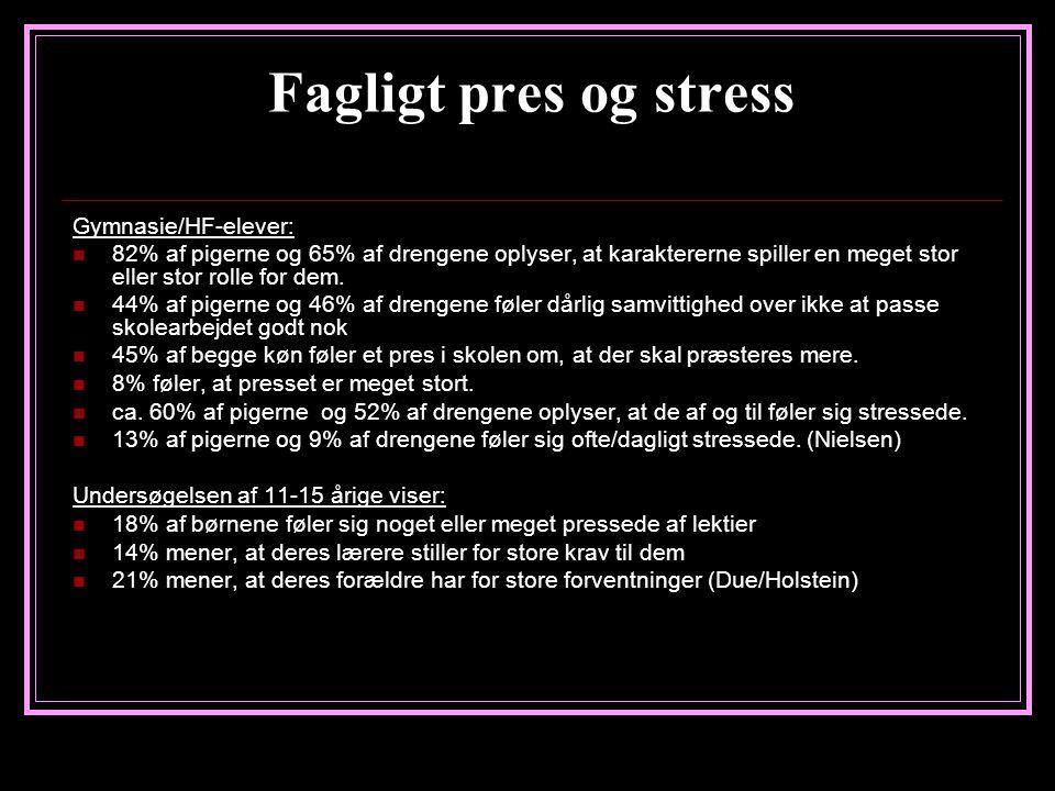 Fagligt pres og stress Gymnasie/HF-elever: