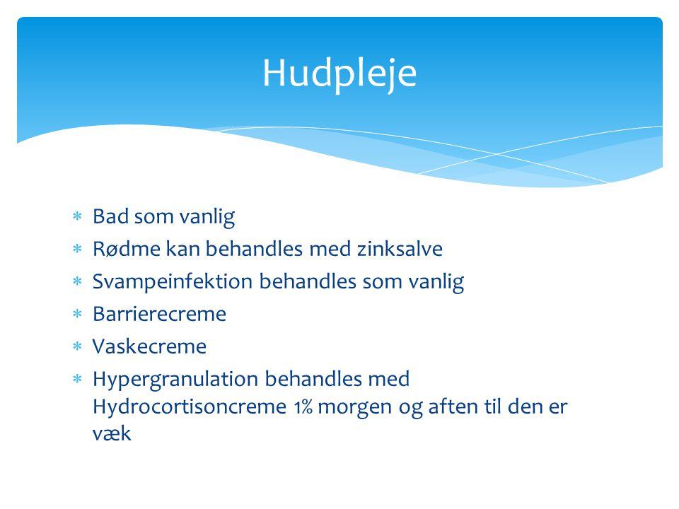 Hudpleje Bad som vanlig Rødme kan behandles med zinksalve
