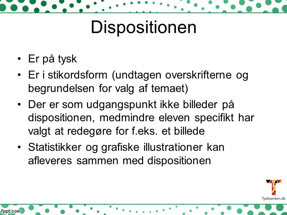 Dispositionen Er på tysk