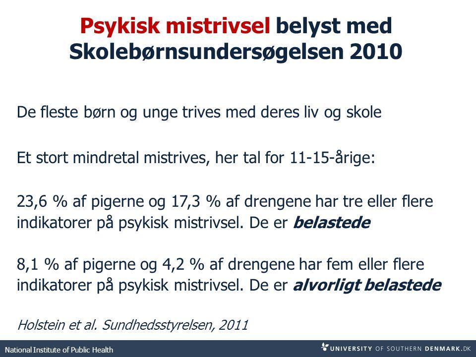 Psykisk mistrivsel belyst med Skolebørnsundersøgelsen 2010