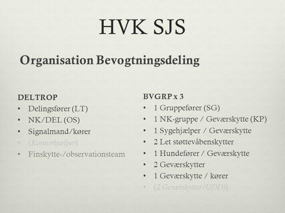 HVK SJS Organisation Bevogtningsdeling DELTROP BVGRP x 3