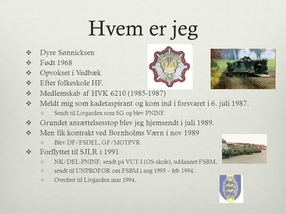 Hvem er jeg Dyre Sønnicksen Født 1968 Opvokset i Vedbæk
