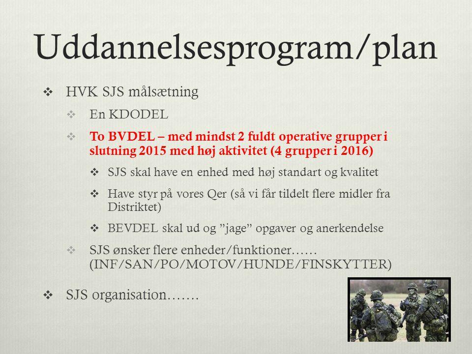 Uddannelsesprogram/plan