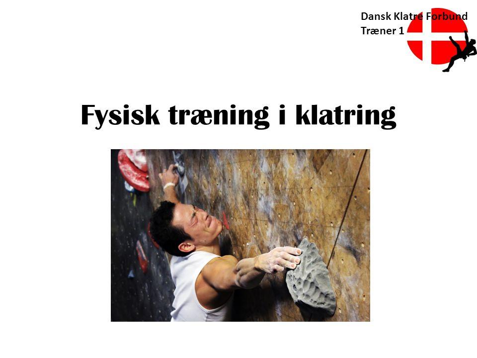 Fysisk træning i klatring