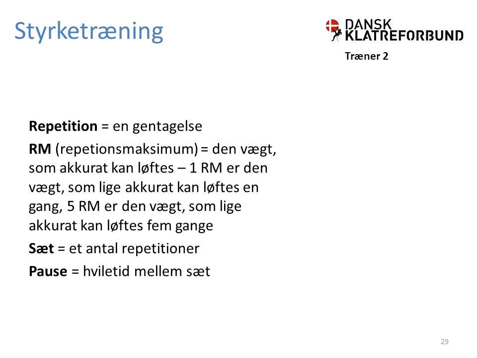 Styrketræning Træner 2.