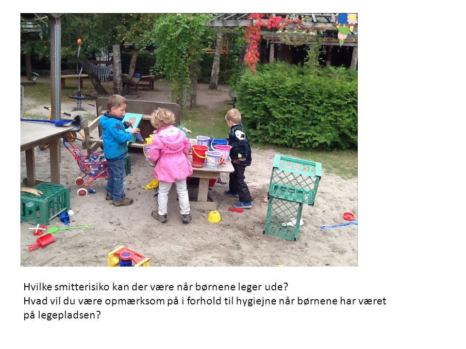 Hvilke smitterisiko kan der være når børnene leger ude