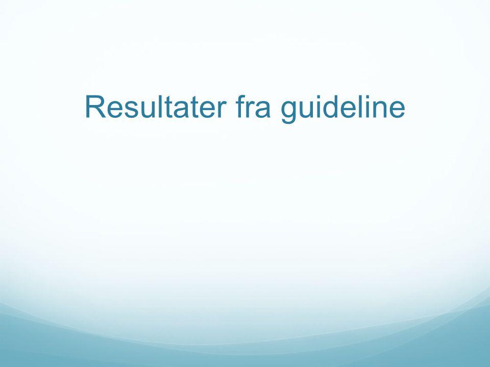 Resultater fra guideline
