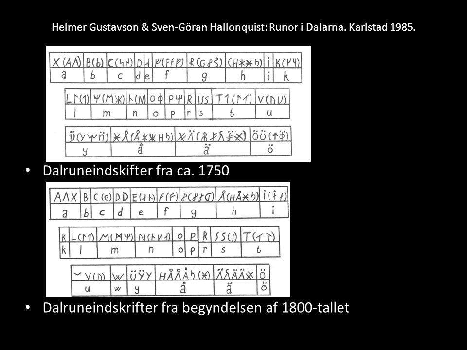 Dalruneindskifter fra ca. 1750