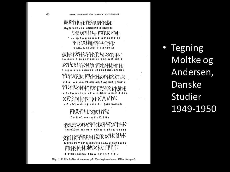 Tegning Moltke og Andersen, Danske Studier 1949-1950