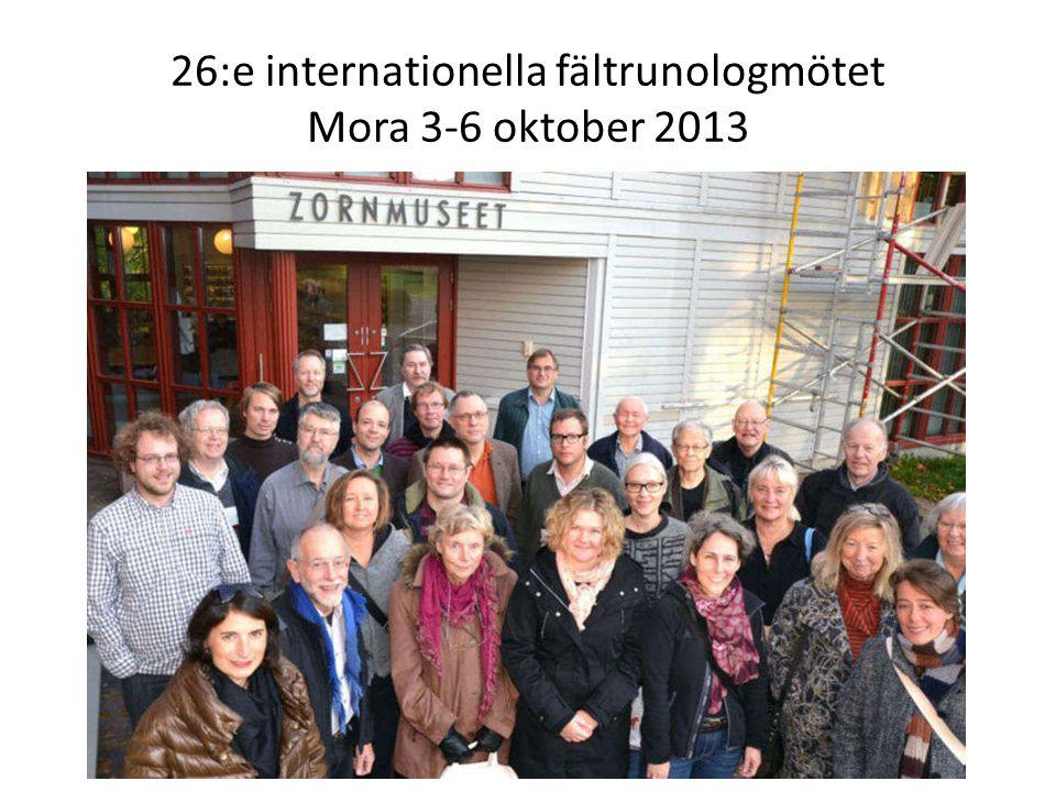 26:e internationella fältrunologmötet Mora 3-6 oktober 2013