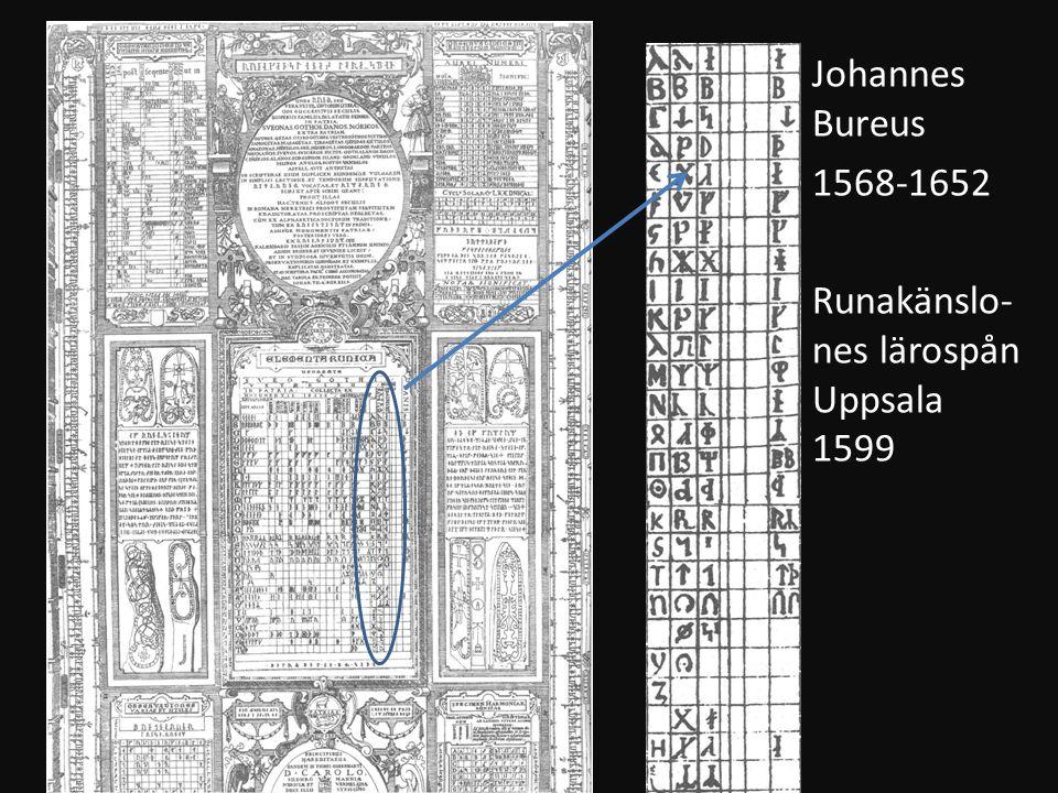 Johannes Bureus 1568-1652 Runakänslo-nes lärospån Uppsala 1599